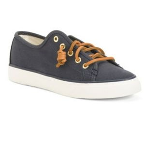 Sperry Blue Canvas Laced Sneakers Size 6.5